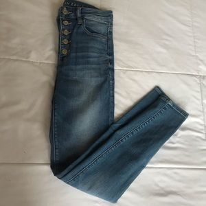 American Eagle button-fly hi-rise jeggings